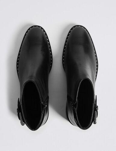 Spencer Lærblokker og Marker Størrelse Ankelstøvler 5 Hælestropp 7 6TwzU5pq