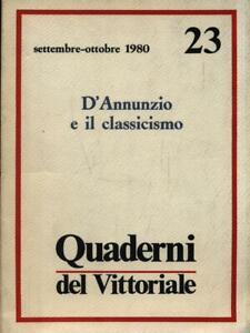 QUADERNI DEL VITTORIALE - ANNO IV N. 23/SETTEMBRE-OTTOBRE 1980  AA.VV.