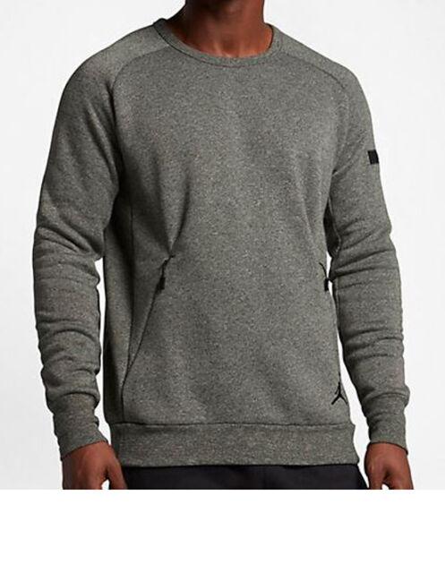 b05d98eddf8084 Nike Men s Air Jordan ICON FLEECE Sweatshirt Sequoia Black 802181-355 b