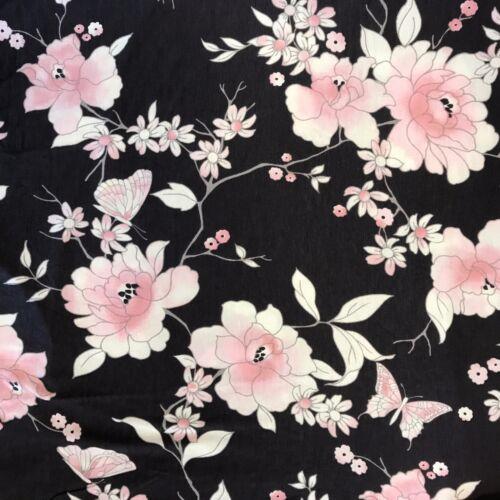 Taglie 10 a 18 Grigio//Rosa Fiore Stampa Donna morbido jersey a maniche corte pigiama