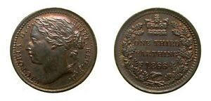 Great-Britain-1866-1-3-Farthing-Rainbow-Toning-UNC-4971
