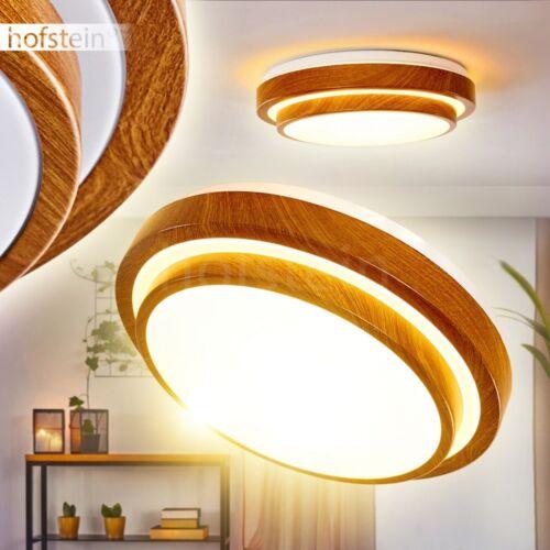 runde Holzoptik Decken Bad Leuchten LED Design Wohn Schlaf Bade Raum Beleuchtung