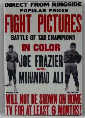 "Joe Frazier Photo 2/"" X 3/"" Fridge Locker Magnet."