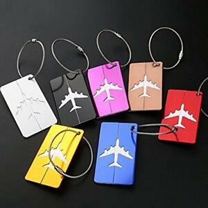 7x-Travel-Aluminium-Luggage-Tags-Suitcase-Label-Name-Address-ID-Baggage-Bag-Tag