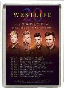 Details about Westlife The Twenty Tour 2019 - Fridge Magnet Large 90 mm x  60 mm