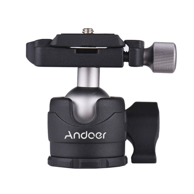 Andoer Camera Tripod 360 Ball Head Ballhead w/ Quick Release Plate for DSLR T0H7