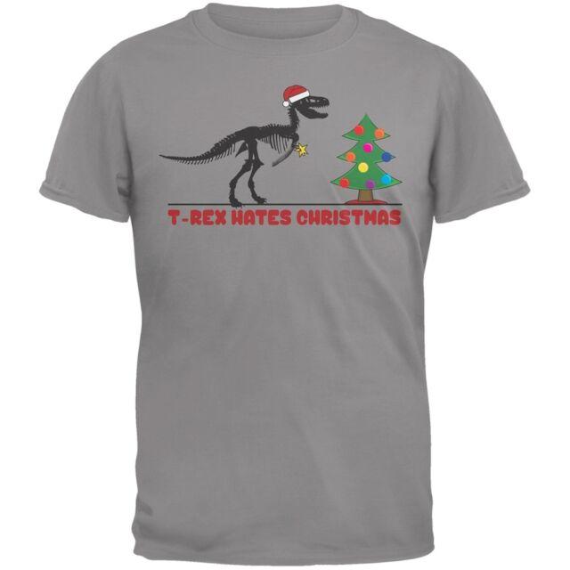 T-Rex Hates Christmas Trees Grey Youth T-Shirt Top   eBay