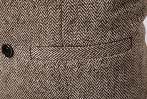2019 Uomini a Doppio Petto Uomo Gilet Herringbone Tweed formale slim fit in magazzino