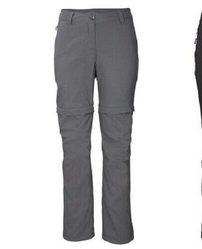 2 in 1 Damen Wanderhose Trekkinghose   gr 40   grau Krempelfunktion zipp off