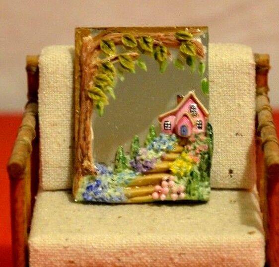Tu satisfacción es nuestro objetivo Espejo de Miniatura de casa de de de muñecas pintura esculpir 1 12 artista J. Dunn  connotación de lujo discreta
