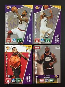 Lebron James 4 Card NBA Panini Adrenalyn XL 2018 2019 2020 (18 19 20) C4 C30 C81