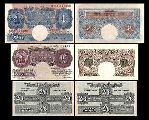 Grande-Bretagne - 2x 2Sh 6Pence, 10Sh, 1 Pound - ND 1940-1948 - Reproduction -06