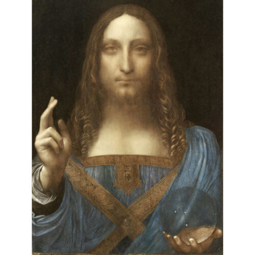 Da Vinci Salvator Mundi World Saviour Jesus Painting Wall Art Canvas Print 18X24