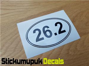 """26.2 Marathon Running Car Van Bumper Window Sticker Decal 4/"""" 100mm Wide"""