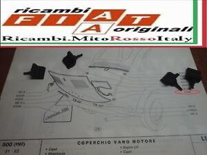 KIT 2 PEZZI GOMMINI COFANO POSTERIORE FIAT 500 D F L R 600 KIT 2 RUBBER BONNET