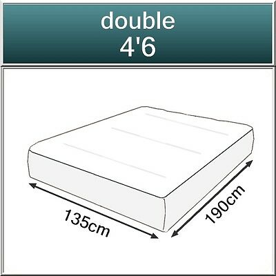 2000 POCKET SPRING ORTHO ORGANIC MATTRESS, 4FT6 DOUBLE 5FT KING SIZE SUPER KING