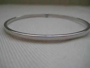 9-Ct-Or-blanc-Super-Value-3mm-CLASSIQUE-BRACELET-D-039-esclave