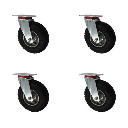 4 Stück 230 mm Luftberefte Transportrollen Lenkrollen Transportgeräterollen A1