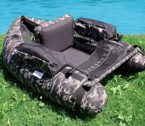 Pumpe Angelboot Lineaeffe Belly Boat Camou Camouflage Belly Boat Boot inkl