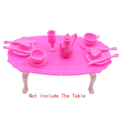 12PCs Girl Birthday Gifts Dinner Table For  Dolls Accessories Gift Toy*~* SP