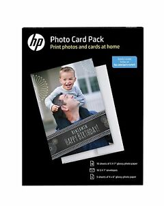 887758496787 NEW HP Inkjet Printer Glossy Photo Card Picture Paper Pack