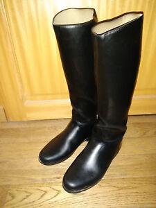 noire sur d'équitation Le Chameau 36 doublées cuir mollet caoutchouc Détails bottes P41 TFc5ul1J3K