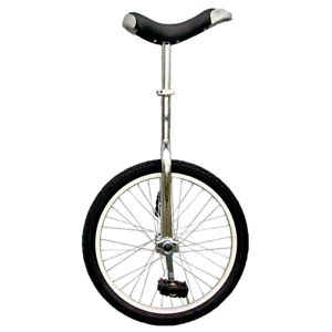 """New Fun Chrome 20/"""" Unicycle w// Alloy Rim Workout Exercise Sporting Cycling Hobby"""
