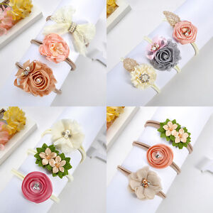 3Pcs-Newborn-Toddler-Baby-Girl-Hairband-Flower-Nylon-Headband-Hair-Accessory