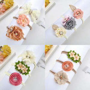 3Pcs-Newborn-Toddler-Baby-Girl-Hairband-Flower-Nylon-Headband-Hair-Accessory