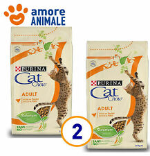 2 SACCHI - Purina Tonus Cat Chow Adult Pollo 10 kg