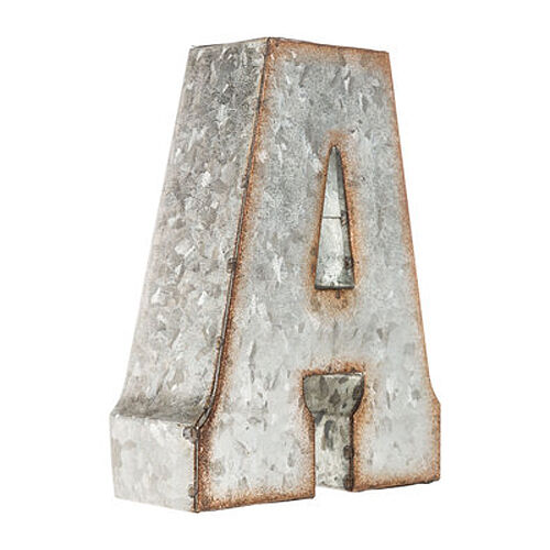 """7/"""" Rustic Metal Farmhouse Alphabet Sign CREATE ANY WORD! 21 COLORS! LETTER A"""