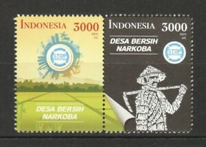 INDONESIA-2019-STOP-NARCOTICS-ANTI-DRUGS-CAMPAIGN-SE-TENANT-COMP-SET-OF-2-STAMP