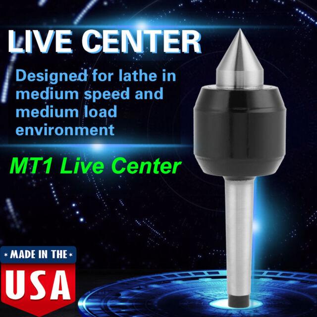 MT1 Live Center Morse Taper 1MT Triple Bearing Lathe Medium Duty CNC
