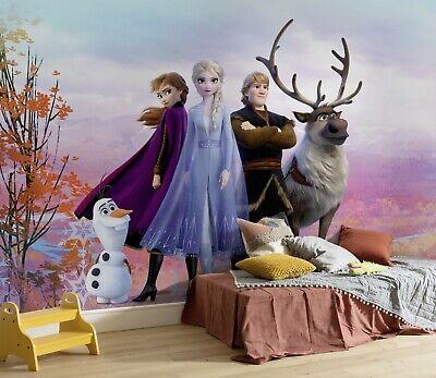 Children S Bedroom Wallpaper Mural Frozen 2 Elsa Anna Disney Big Poster Glue Ebay