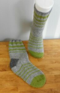 HAND KNIT MEN/'S WOOL SOCKS 10.5-12  Thick Warm Hand knit in America