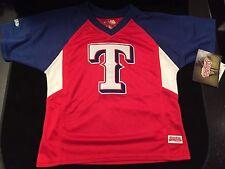 Texas Rangers Youth Size 5/6 Stitches Jersey . Kids Baseball Boys NEW