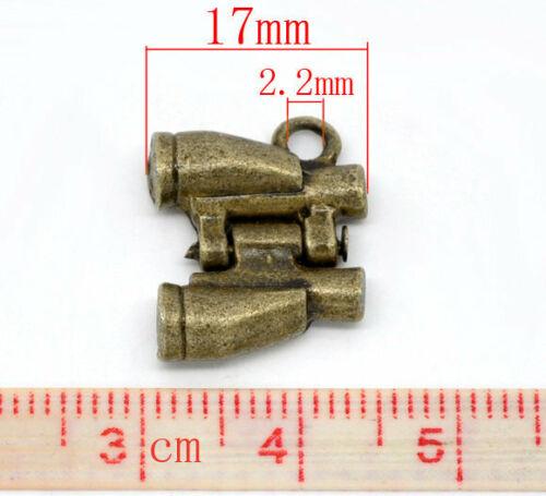 4 x remolque prismáticos bronce 17x14mm