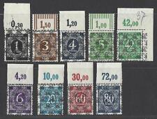 Spezial Alliierte Besetzung 1948 MiNr I/II bis IX/II ** postfr. Oberrandstücke