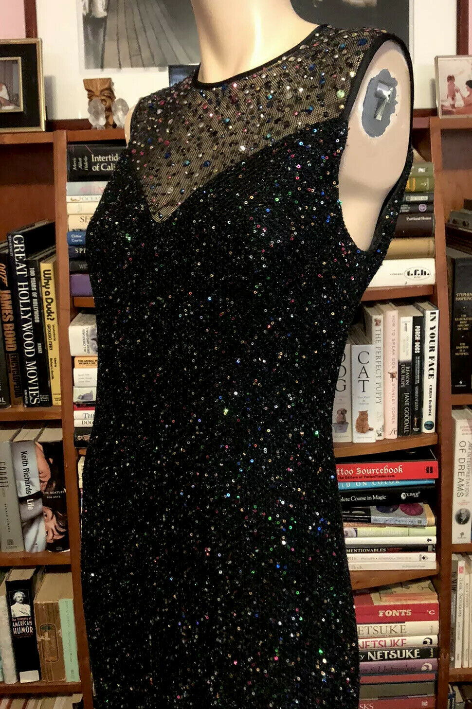 ST. JOHN ICONIC CONFETTI SWEETHEART FITTED GOWN SPARKLY GEMSTONES NWT