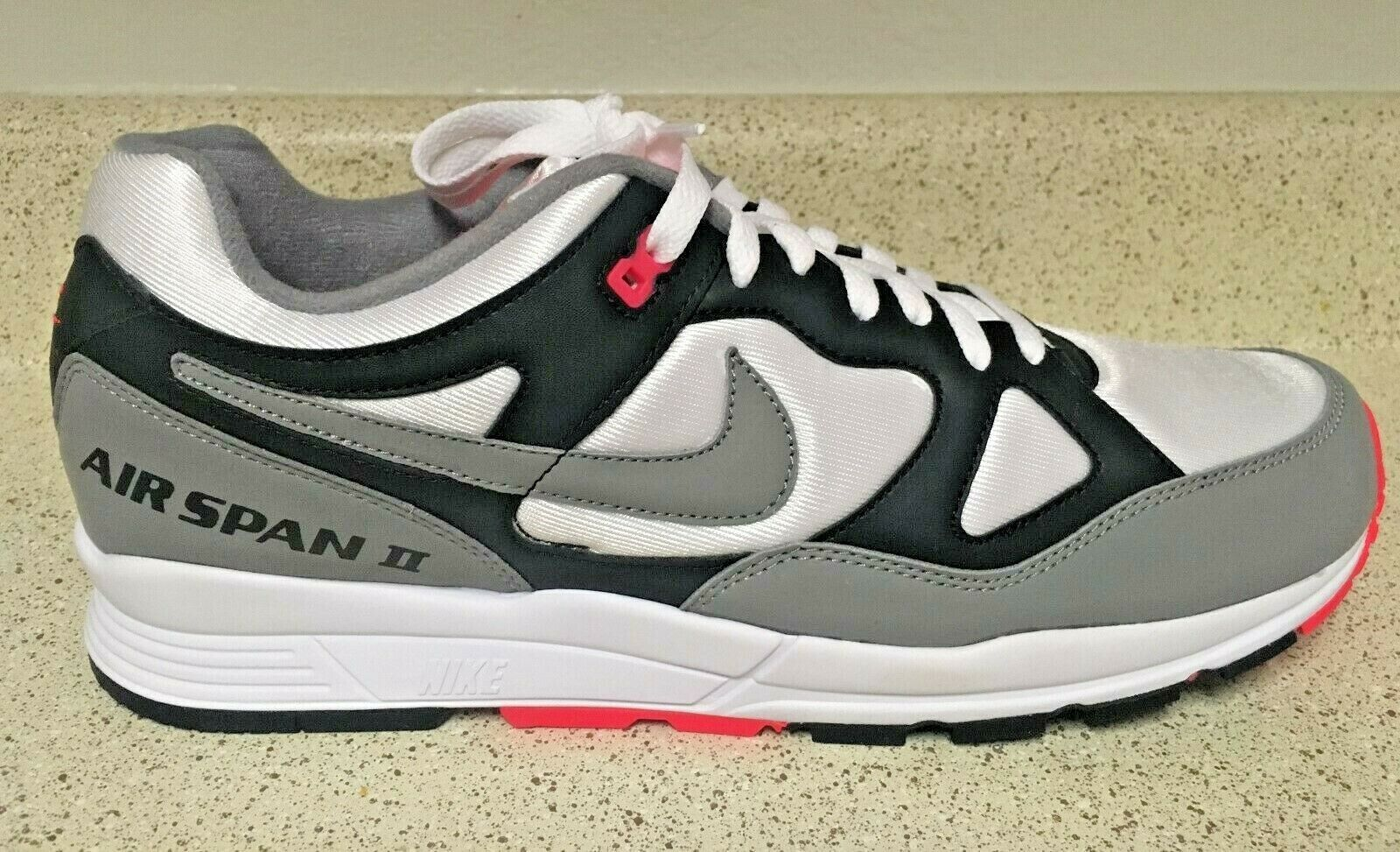 Nike Air Span II Hot Punch Coral Solar Red Dust {AH8047-005} Mens Sz 9.5