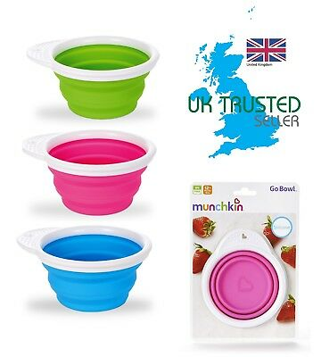 Cups, Dishes & Utensils Munchkin Go Bol Bébé Sevrage Alimentation Collation Voyage Boite Joint Silicone To Rank First Among Similar Products