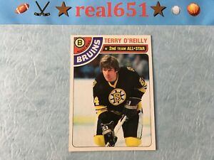 1978-Topps-40-TERRY-O-039-REILLY-Sharp-Centered-Pack-Fresh-Boston-Bruins