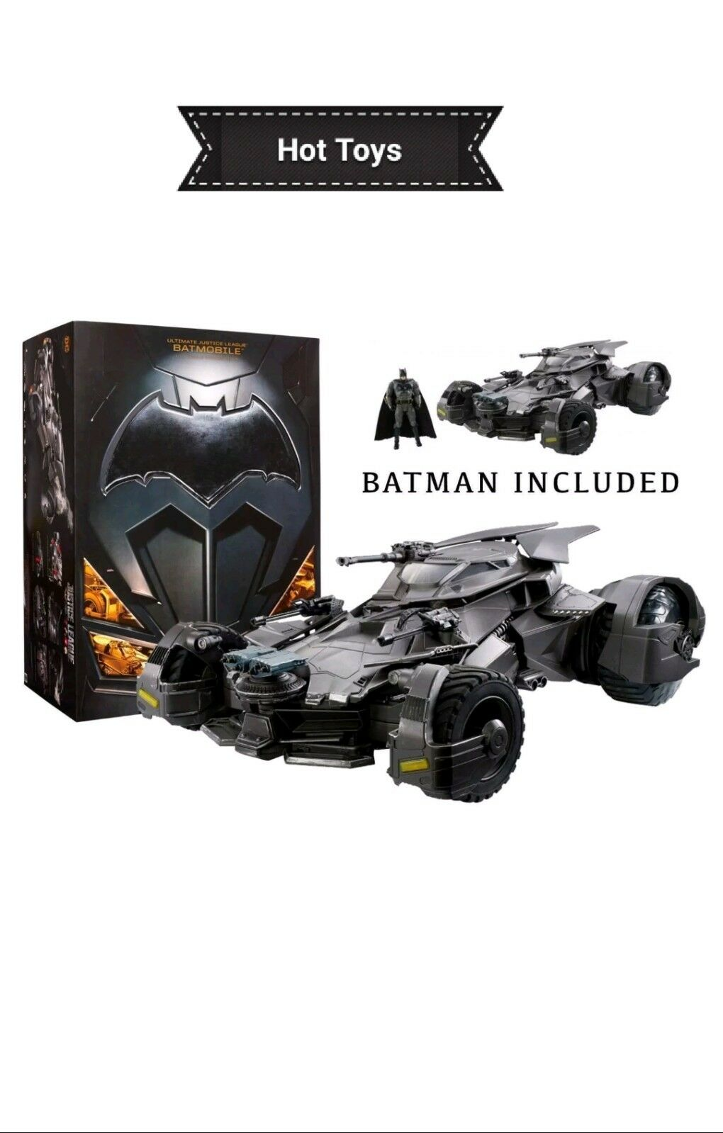 Justice League Ultimate Batmobile RC Vehicle & Figure HUGE 1 10 SCALE Batman DC