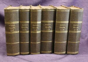 Schillers-Werke-1-12-in-6-Baenden-1867-Belletristik-Literatur-Lyrik-Sprache-js