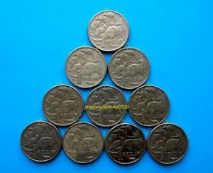 Australia-1-One-Dollar-MOR-Rabbit-Ears-Collection-of-10-Coins