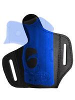 Barsony Black Leather Pancake Gun Holster Mini/pocket 22 25 32 380 W/ Laser