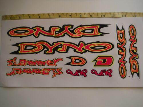 DYNO Slammer Stickers Pink DIE-CUT Yellow /& Black