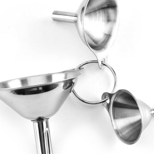 2 Set//6 Pcs Stainless Steel Funnel Durable Wide Mouth Funnel for Spices Kitchen