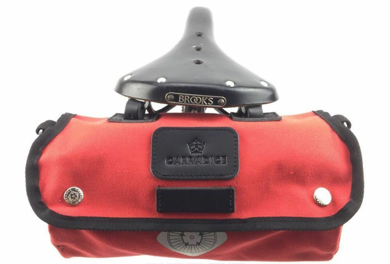 NEW Carradice Zipped Roll LIMITED EDITION RED Cotton Canvas Saddlebag tube tool