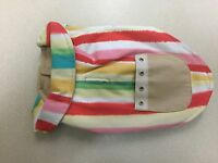 Scooter's Friends Dog Sleeveless Coat Sherbet Striped 10